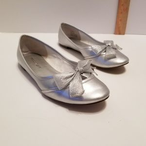 Madden Girl silver flats with bow